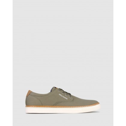 Otis Canvas Lifestyle Shoes Khaki by Betts