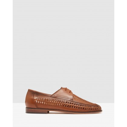 Otis Woven Lace Up Shoes Tan by Oxford