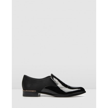 Outpost Loafers Black Patent by Jo Mercer