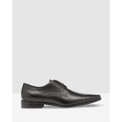Owen Leather Shoes Black Pebble by Oxford