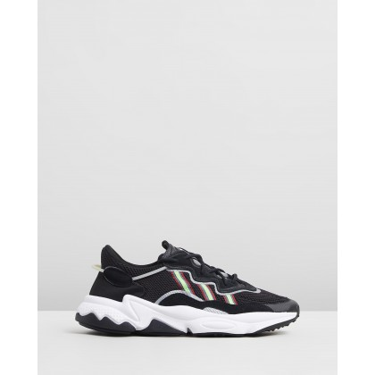Ozweego - Women's Core Black, Solar Green & Onyx by Adidas Originals