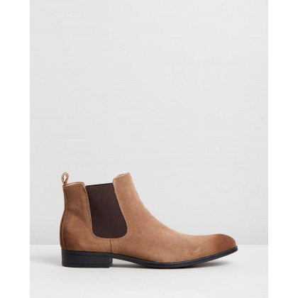 Pace Suede Performance Boots Sand by Jeff Banks