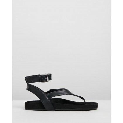 Paco Sandals Black Smooth by Dazie