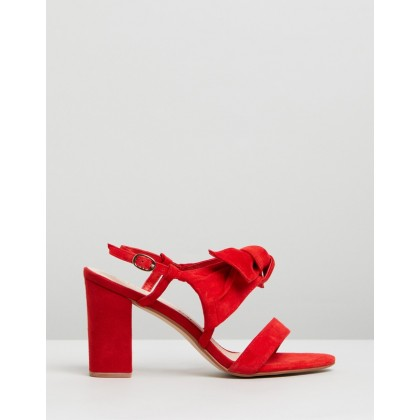 Palace Nubuck Heels Red by Walnut Melbourne