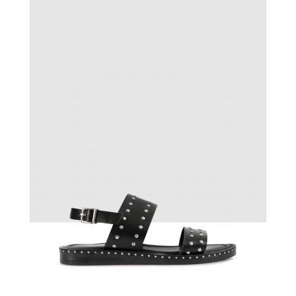 Pandora Flat Sandals Black by S By Sempre Di
