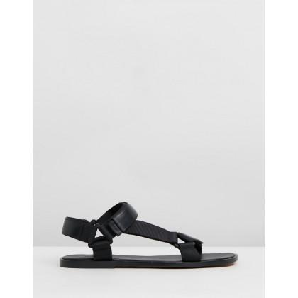 Parks Sandals Black by Vince