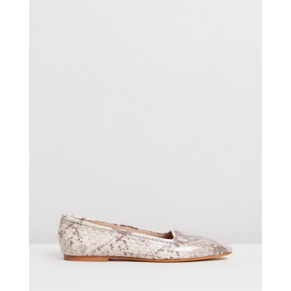 Pascal Loafers Stone Snake by Maryam Nassir Zadeh