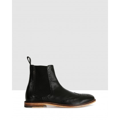 Paul Ankle Boots Nero by Brando