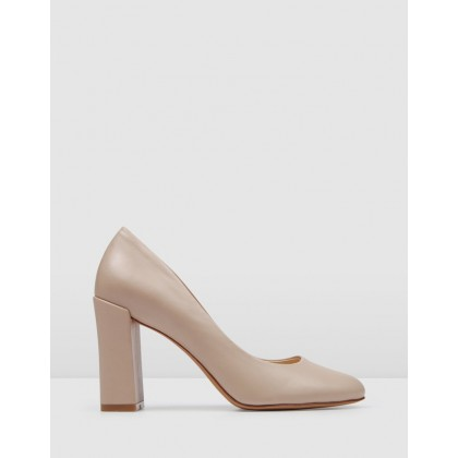 Payton High Heels Blush Leather by Jo Mercer