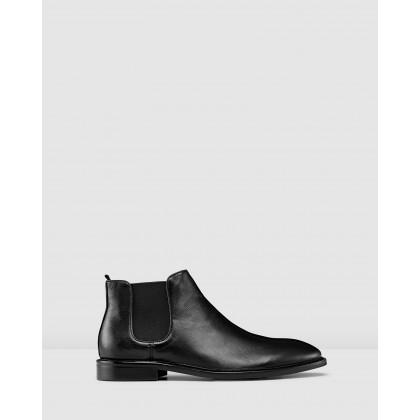 Pellegrini Chelsea Boots Black by Aquila