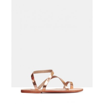 Penny Leather Sandals pink by Sempre Di