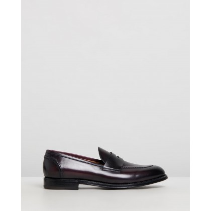 Penny Loafers Burgundy Leather by Barrett