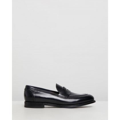 Penny Loafers Black Leather by Barrett