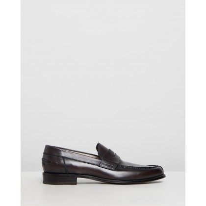 Penny Loafers Black Box Leather by Barrett