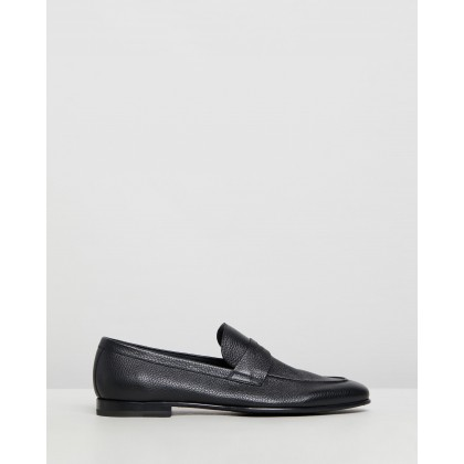 Penny Loafers Black Deer Leather by Barrett