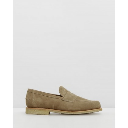 Penny Loafers Indiana Tan Suede by Sanders