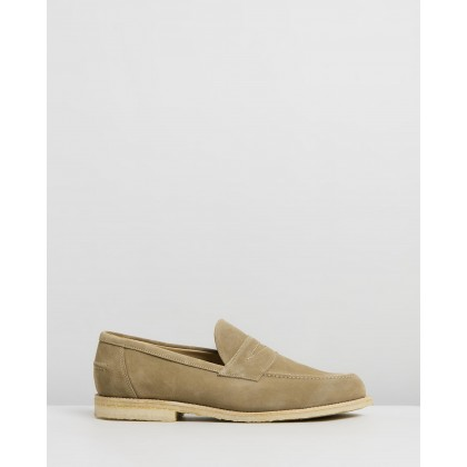 Penny Loafers Dirty Buck Suede by Sanders