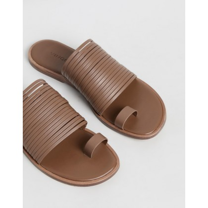 Penrose Leather Sandals Tan by Vince