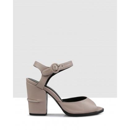 Pepita Block Sandals Cipria by Sempre Di