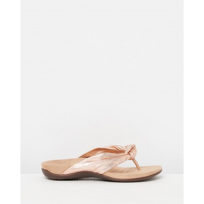 Pippa Toe Post Sandals Rose Gold by Vionic