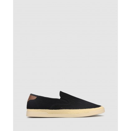 Pirate Mesh Slip On Loafers Black by Zu