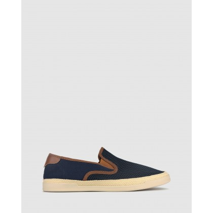 Pirate Mesh Slip On Loafers Navy by Zu