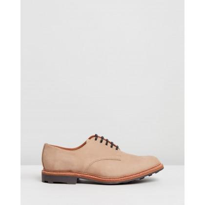 Plain Toe Shoes Vanilla by Sanders