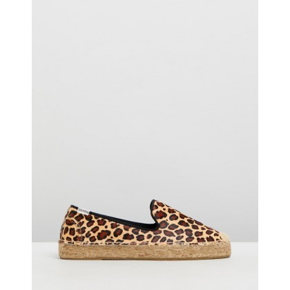 Plat Smoking Slippers Leopard by Soludos