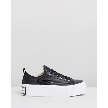Plimsoll Platform Lo Sneakers Black by Mcq By Alexander Mcqueen
