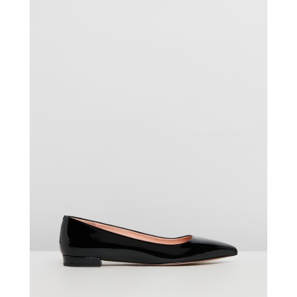 Pointy Toe Patent Flats Black by J.Crew