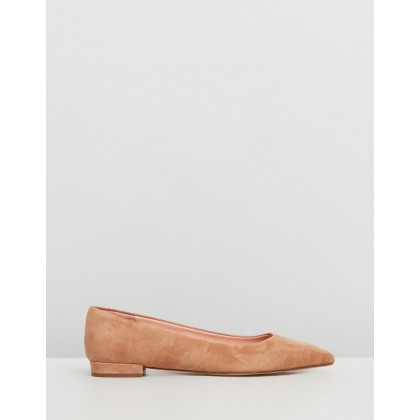 Pointy Toe Suede Flats Ashen Brown by J.Crew