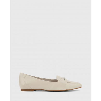 Porsha Nappa Leather Pointed Toe Flats Grey by Wittner