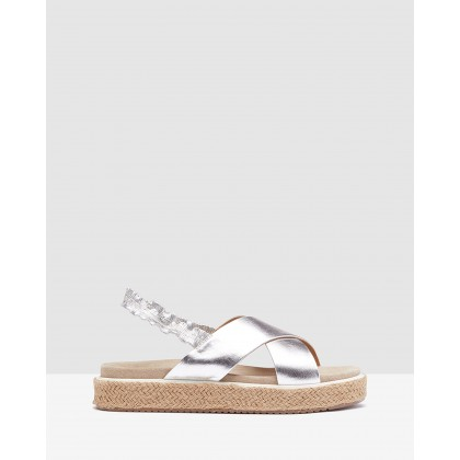 Portia Espadrille Silver by Oxford