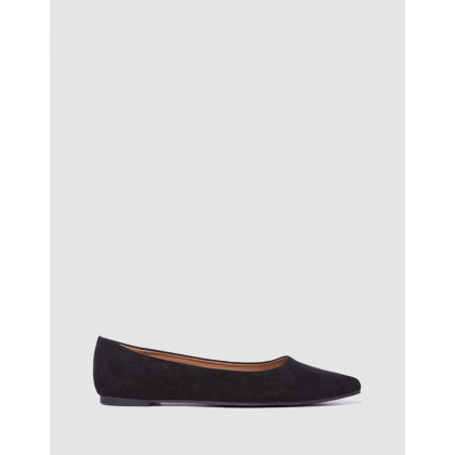 Primo Point Ballet Flats Black Micro by Rubi