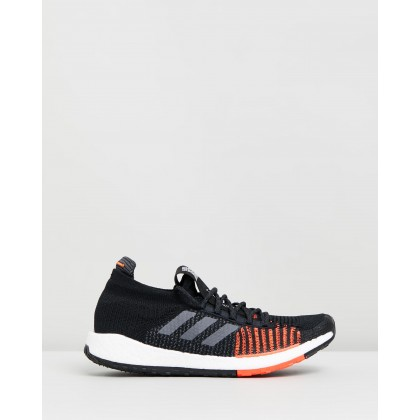 PulseBOOST HD - Men's Core Black, Grey & Solar Red by Adidas Performance