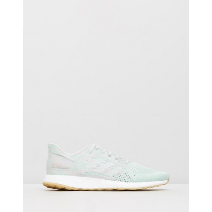 PureBOOST DPR - Women's Raw White, Footwear White & Clear Mint by Adidas Performance