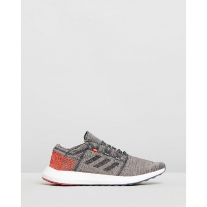 PureBOOST GO - Men's Legend Ivy, Core Black & True Orange by Adidas Performance