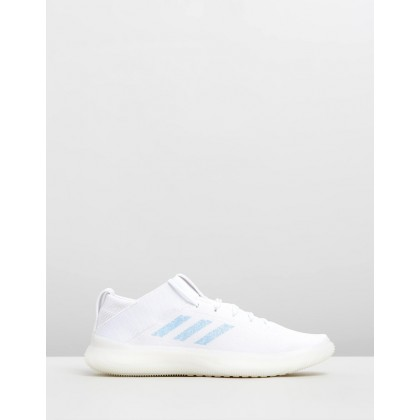 PureBOOST Trainers - Women's Footwear White, Glow Blue & Core White by Adidas Performance