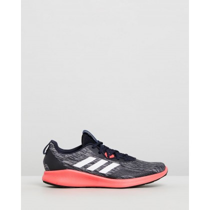 Purebounce+ Street - Men's Legend Ink, White & Shock Red by Adidas Performance