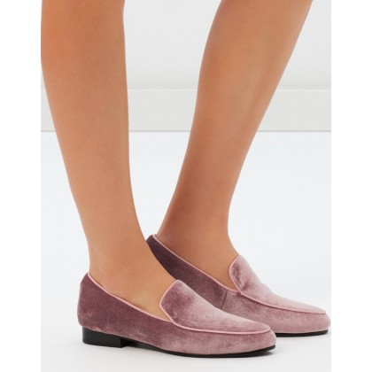 Quince Loafers Dusty Rose Velvet by Sol Sana