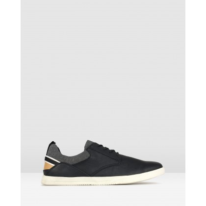 Racer Lace Up Lifestyle Shoes Black by Zu