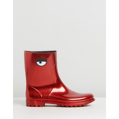 Rain Boots Red by Chiara Ferragni