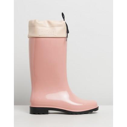 Rain Boots Dark Nude Gloss by Melissa