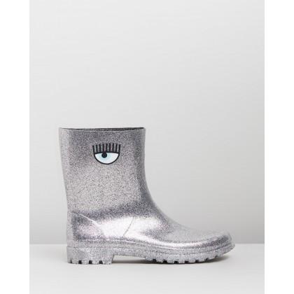 Rain Boots Silver by Chiara Ferragni