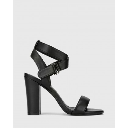 Ralexx 2 Block Heel Sandals Black by Wittner