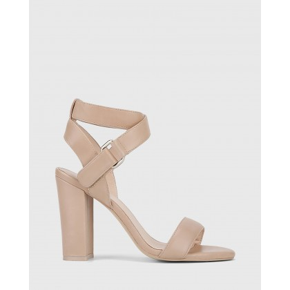 Ralexx 2 Block Heel Sandals Nude by Wittner