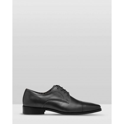 Randall Leather Dress Shoes Black by Oxford