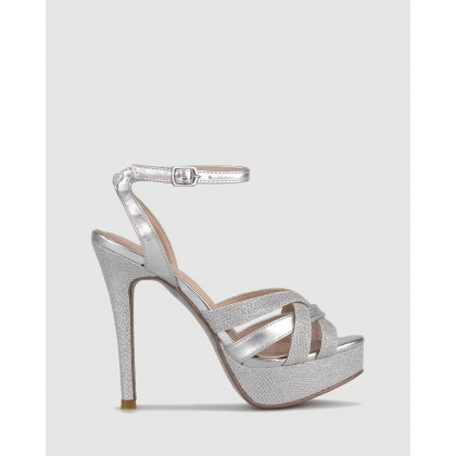 Raquel Platform Metallic Sandals Silver by Airflex