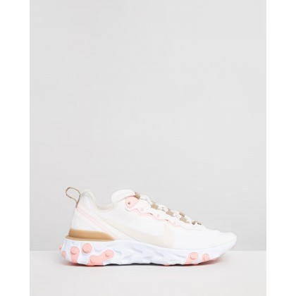 React Element 55 - Women's Phantom, Light Orewood Brown & Parachute Beige by Nike
