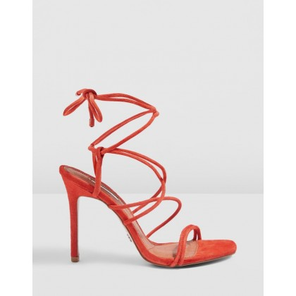 Rebel Rouleau Strap Heels Red by Topshop
